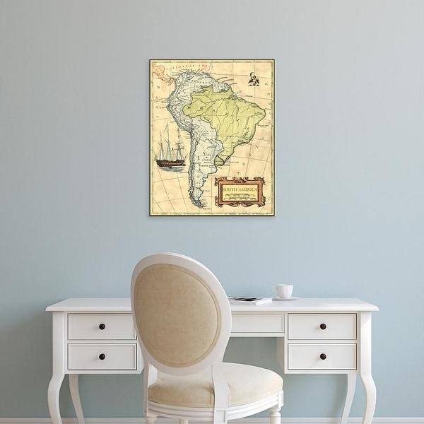Easy Art Prints Vision Studio's 'South America Map' Premium Canvas Art