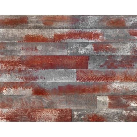 "Novogratz Genuine DIY Hardwood Wall Panels (20 Sq. Ft. of 5.1"" Wide Panels)"
