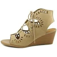 MADELINE girl Womens Morning Glory Open Toe Casual Platform Sandals