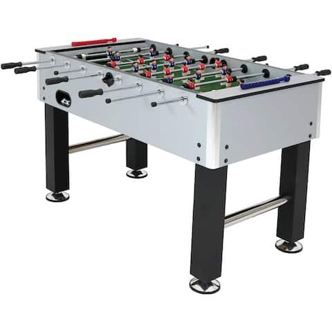 Sunnydaze Metallic Foosball Arcade Soccer Sports Table - 55-Inch