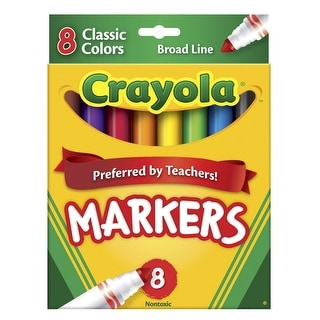 Crayola Original Broad Line Markers, Assorted Bold Colors, Set of 8