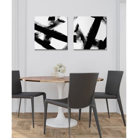 Kate and Laurel Gesture 1 Canvas Art Set by Amy Lighthall