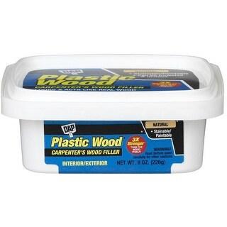 Dap 08135 Natural Latex Carpenter's Wood Filler, 8 oz, Plastic