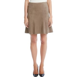 Karen Kane Womens Mini Skirt Stretch Faux Suede