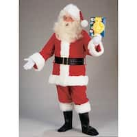 Santa Claus Adult Value Costume Suit Standard - Red