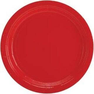 "Apple Red - Big Party Pack Dinner Plates 9"" 50/Pkg"
