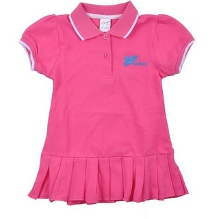 Richie House Baby Girls Magenta Loveliness Applique Polo Skirt 6M-12M