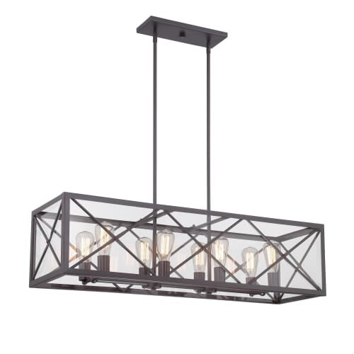 Designers Fountain 87338 High Line 8 Light 1 Tier Linear Chandelier