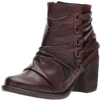 Miz Mooz Womens Mimi Leather Closed Toe Ankle Fashion Boots