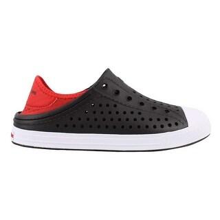 Skechers Boy's, Guzman Steps Aqua Surge Slip On Shoes Black/Red 2 M