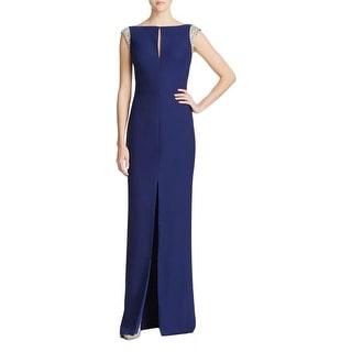 Aidan Mattox Womens Evening Dress Embellished Keyhole