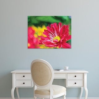 Easy Art Prints Lola Henry's 'Painterly Flower VI' Premium Canvas Art