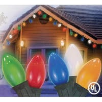 Set of 25 Opaque Multi-Color C9 Christmas Lights - Green Wire - multi
