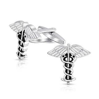 Bling Jewelry Medical Insignia Doctors RNs Nurses Mens Caduceus Cufflinks Stainless Steel Plated|https://ak1.ostkcdn.com/images/products/is/images/direct/515ca4a1dd810b7c20f0e3119bee1a26d72674df/Bling-Jewelry-Medical-Insignia-Doctors-RNs-Nurses-Mens-Caduceus-Cufflinks-Stainless-Steel-Plated.jpg?impolicy=medium