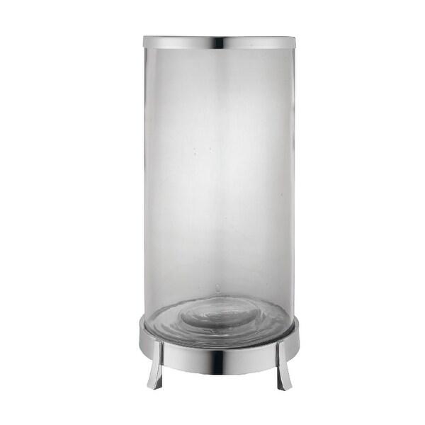 """14"""" Silver Elegant Fulton Hurricane Decorative Round Jar - N/A"""