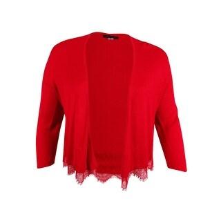 Tommy Hilfiger Women's Lace-Trim Shrug Cardigan