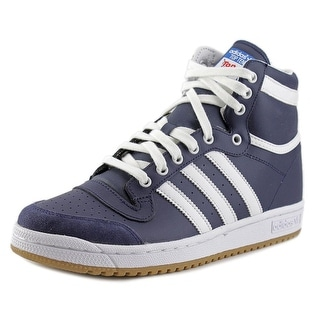 Adidas Top Ten Hi Youth Round Toe Leather Blue Sneakers