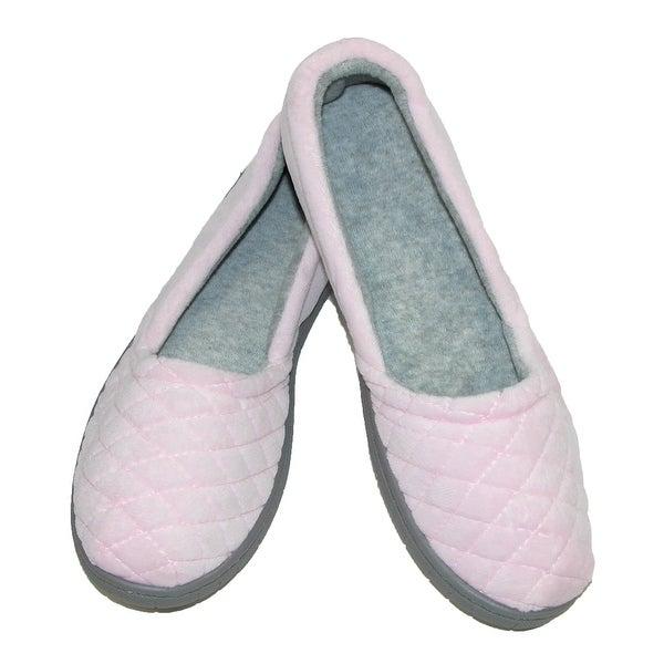 Dearfoams Women's Velour Espadrille Slippers with Microfiber Insole