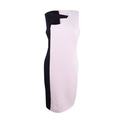 Calvin Klein Women's Cutout Colorblocked Sheath Dress