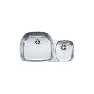 "Franke PRX120 Prestige 35-5/8"" Double Basin Undermount 16-Gauge Stainless Steel Kitchen Sink"