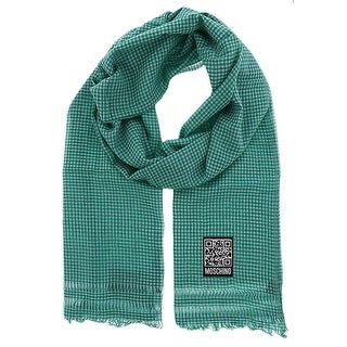 Moschino SCR11242/2 Green/White Checkered Scarf