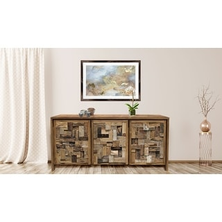 Link to Chic Teak Recycled Teak Wood Mozaik Media Center / Chest with 3 Door Similar Items in Media Cabinets