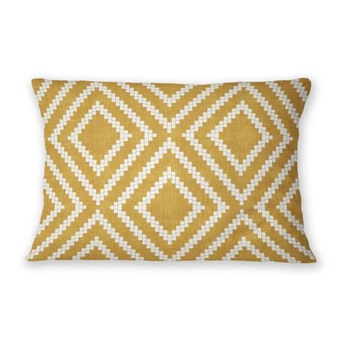 LOOM GOLD Indoor Outdoor Lumbar Pillow By Becky Bailey