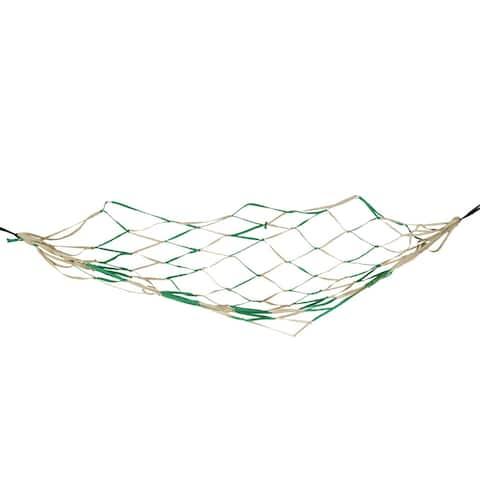 "Unique Bargains Backyard Nylon Hang Hammock Mesh Net Sleeping Bed Green Khaki 79"" x 43"""