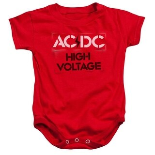 ACDC High Voltage Stencil-Infant Snapsuit, Red - Extra Large 2