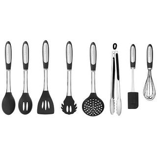 Cuisinart CTG-00-8SEB Elements Kitchen Tools, Silicone, Black