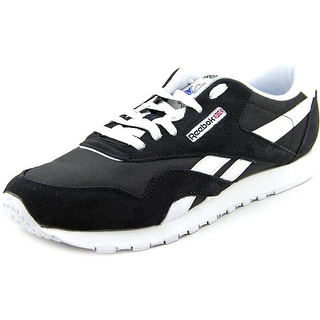 Reebok CL Nylon Women Round Toe Suede Black Sneakers