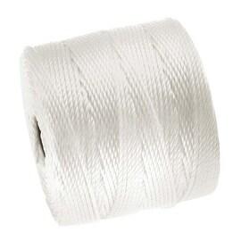 BeadSmith Super-Lon (S-Lon) Cord - Size 18 Twisted Nylon - White / 77 Yard Spool