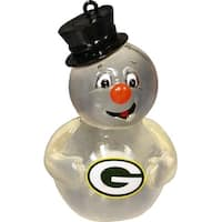 Green Bay Packers Light-up Team Snowman Ornament