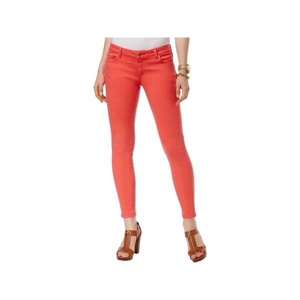 b8be6b7b05a9 Shop MICHAEL Michael Kors Womens Izzy Skinny Jeans Cropped Mid-Rise ...