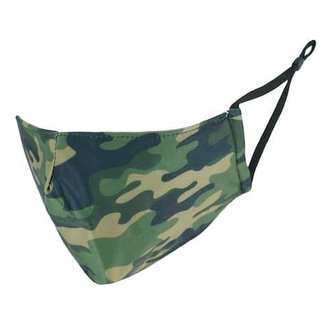 Care Cover Adult Camouflage Print Protective Face Mask with Built-In Filter Pocket - one size