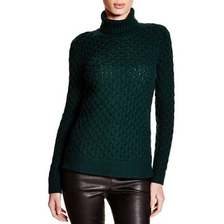 Private Label Womens Turtleneck Sweater Honeycomb Knit Long Sleeves
