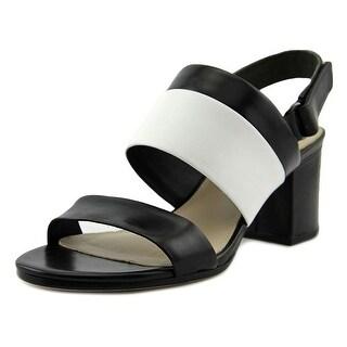 Via Spiga Jamilla Open-Toe Leather Slingback Heel