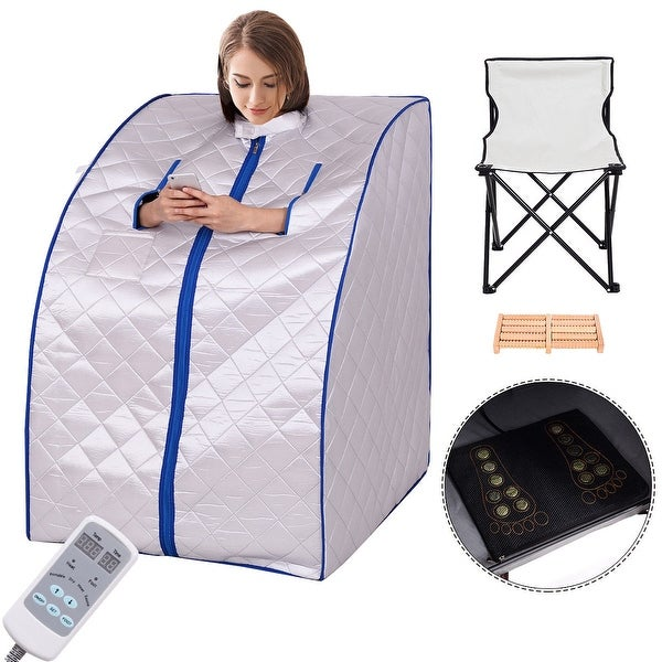 Costway Portable Far Infrared Sauna Spa Full Body Detox Therapy