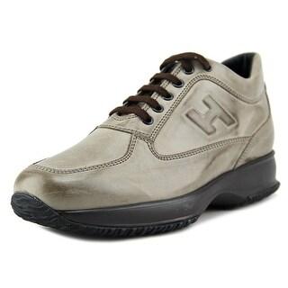 Hogan Interactive Uomo H Rilievo Round Toe Leather Sneakers