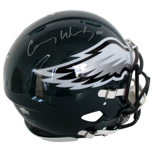 bc19f746ce4 Carson Wentz Signed Eagles Full Size Authentic On Field Speed Helmet  Fanatics