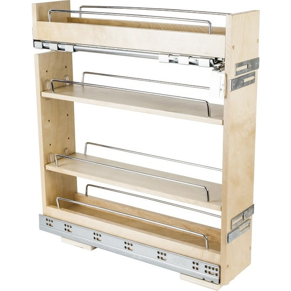 Hardware Resources Bpo2 5sc 9 Inch Base Cabinet Pull Out Shelves With Concealed Uv