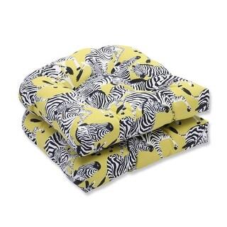 19 Inch Green White Zebra Print Throw Pillow Free