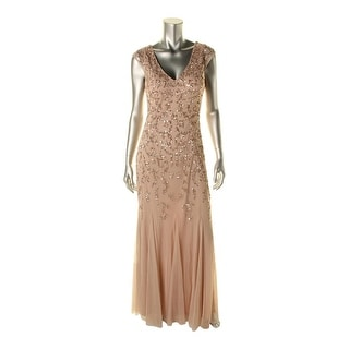 Aidan Mattox Womens Gwen Formal Dress Sequined Prom