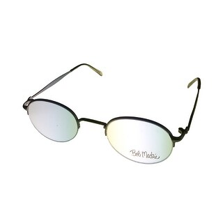 Bob Mackie Mens Opthalmic Eyeglass Rimless Round Metal Frame #854 Satin Taupe - Medium