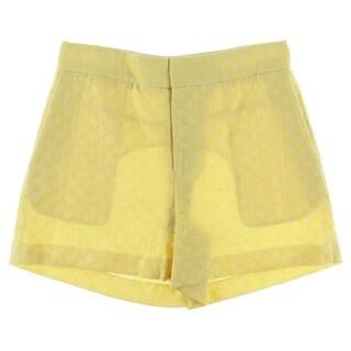 Catherine Malandrino Womens Textured High Waist Dress Shorts - 4