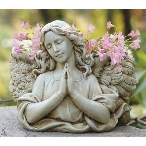 "Pack of 2 Joseph's Studio Praying Angel Religious Outdoor Garden Planter Statues 8.5"" - N/A"
