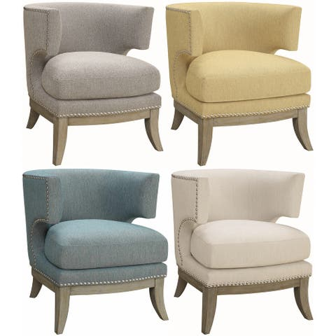 Mid Century Modern Design Living Room Accent Chair with Nailhead Trim
