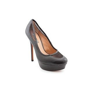Charles David Rhumba Women Round Toe Leather Gray Heels