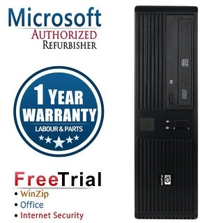 Refurbished HP RP5700 SFF Intel Core 2 Duo E6400 2.13G 2G DDR2 80G DVD WIN 10 Home 1 Year Warranty - Black