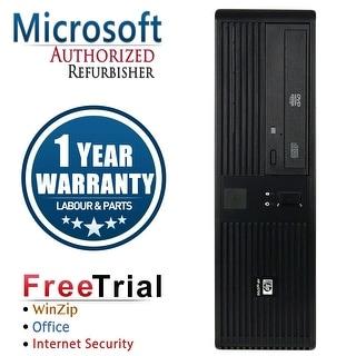 Refurbished HP RP5700 SFF Intel Core 2 Duo E6400 2.13G 4G DDR2 500G DVD WIN 10 Pro 1 Year Warranty - Black